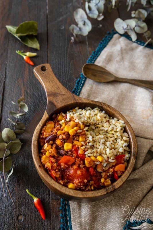Chili sans viande 100% végétal