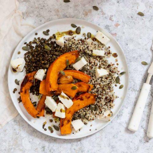 Recette d'assiette au potimarron et quinoa