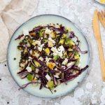 Recette de salade de lentilles et chou rouge