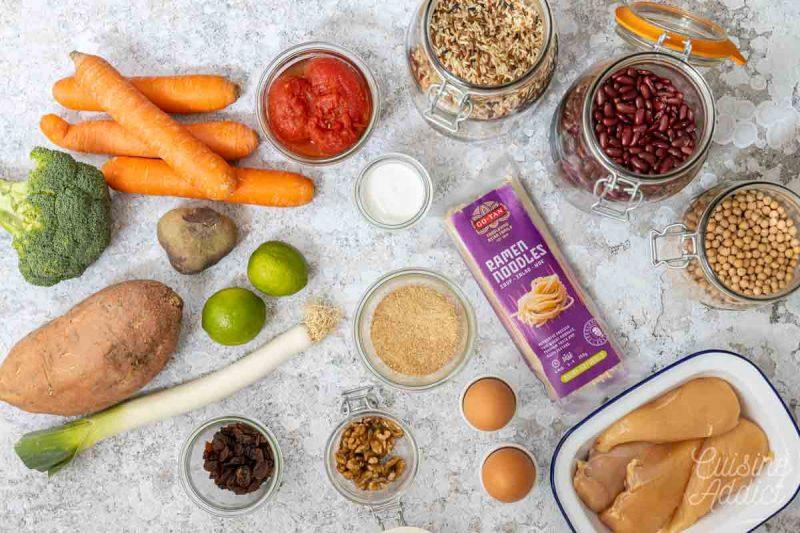 Batch cooking Hiver 9 - Ingrédients