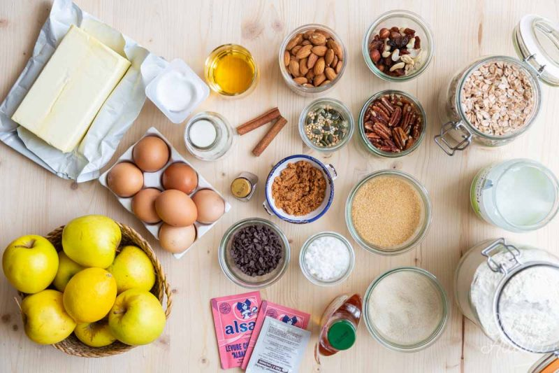 Batch cooking goûter et petit-déjeuner Hiver - Ingrédients