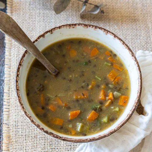 Recette de soupe de lentilles au Cookeo
