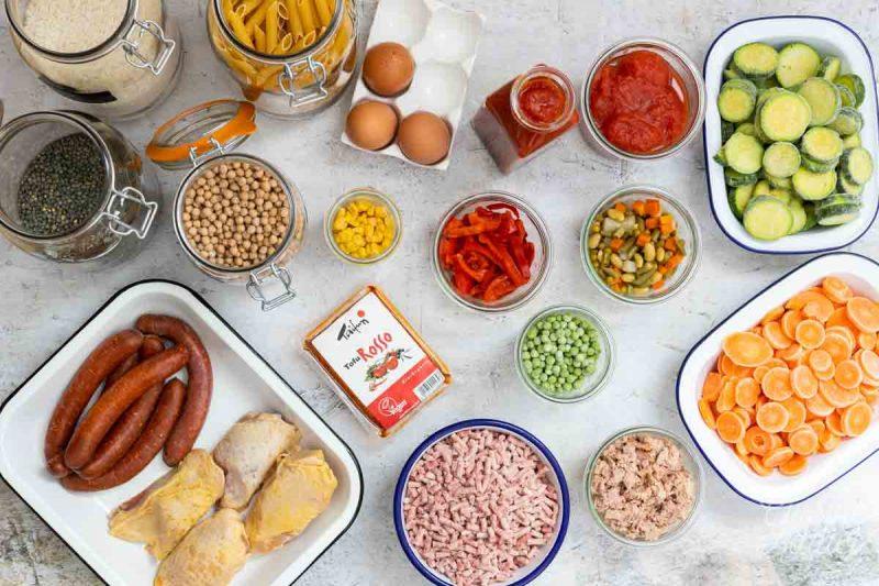 Batch cooking Fonds de placards - Ingrédients