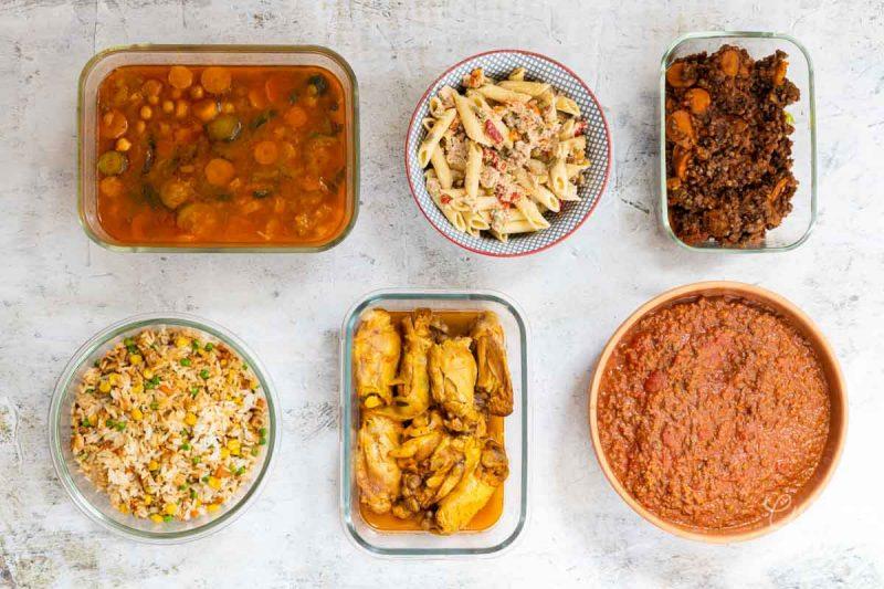 Batch cooking Fonds de placards - Préparations