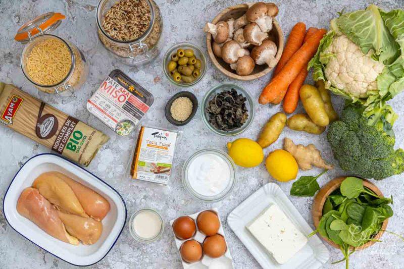 Batch cooking Hiver 13 - Ingrédients