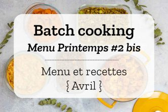 Batch cooking Printemps 2 2020