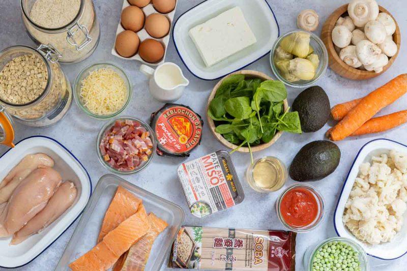 Batch cooking Printemps 3 - Ingrédients