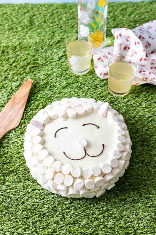 Gâteau mouton aux marshmallow