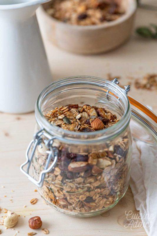 Recette de base pour le granola maison
