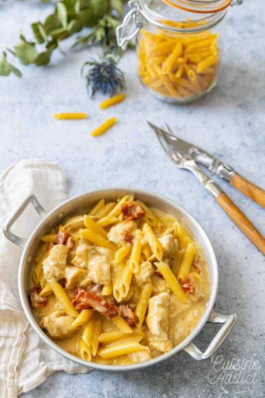 Macaronis au fromage et au poulet