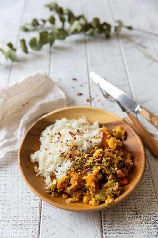 Curry de brocolis aux lentilles corail