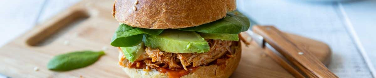 Recette de burger au pulled chicken
