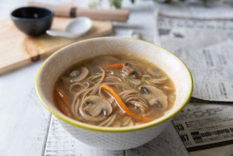 Recette de soupe miso aux nouilles soba