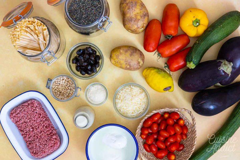 Batch cooking Eté 3 - Ingrédients