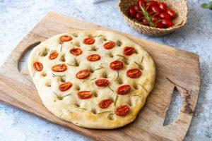 Recette de foccacia aux tomates cerise