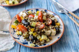 Recette de salade de lentilles à la grecque