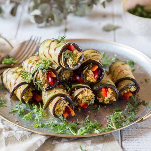 Recette de cannellonis d'aubergine au quinoa
