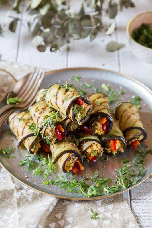 Eggplant cannelloni with quinoa