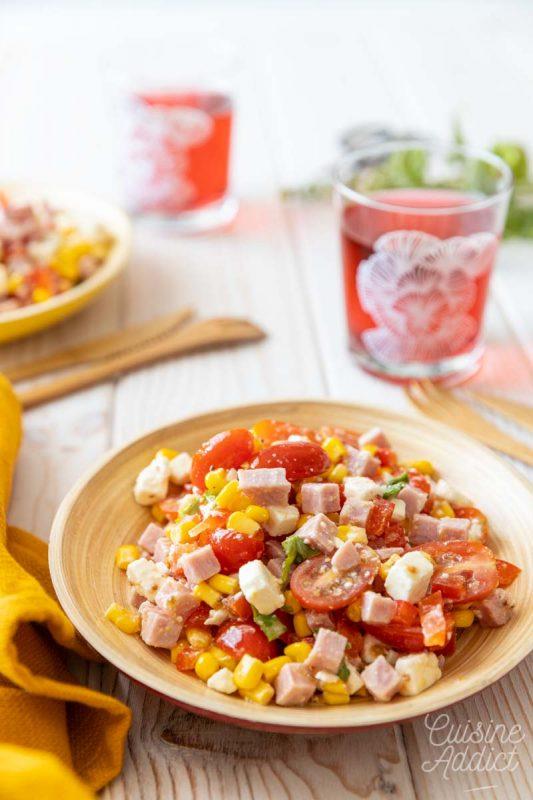 Salade de maïs au jambon