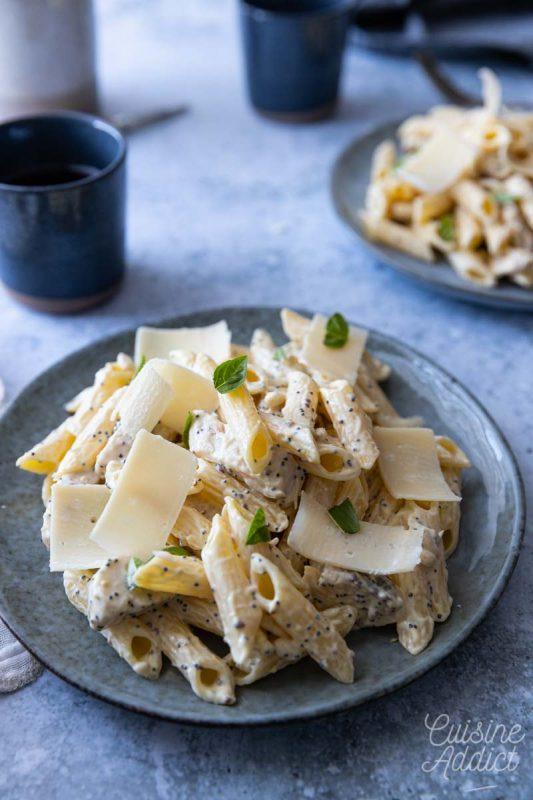 Salade de pâtes au parmesan et basilic
