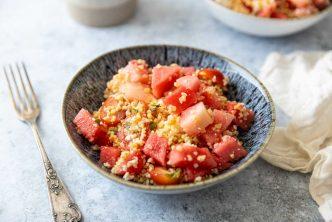 Recette de salade de boulgour, pastèque et feta