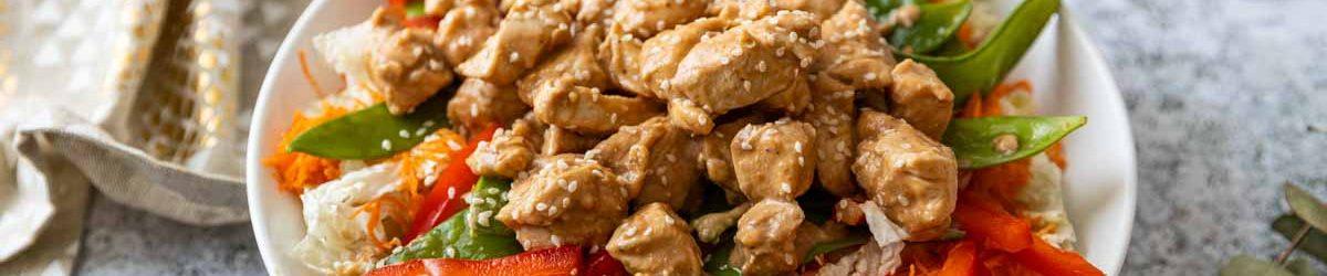 Recette de salade thaï au poulet
