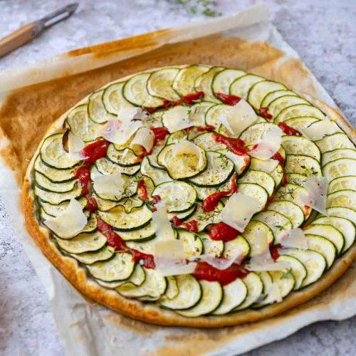 Recette de tarte fine à la courgette