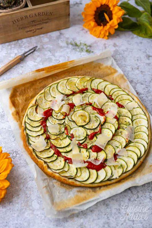 Tarte courgette et parmesan