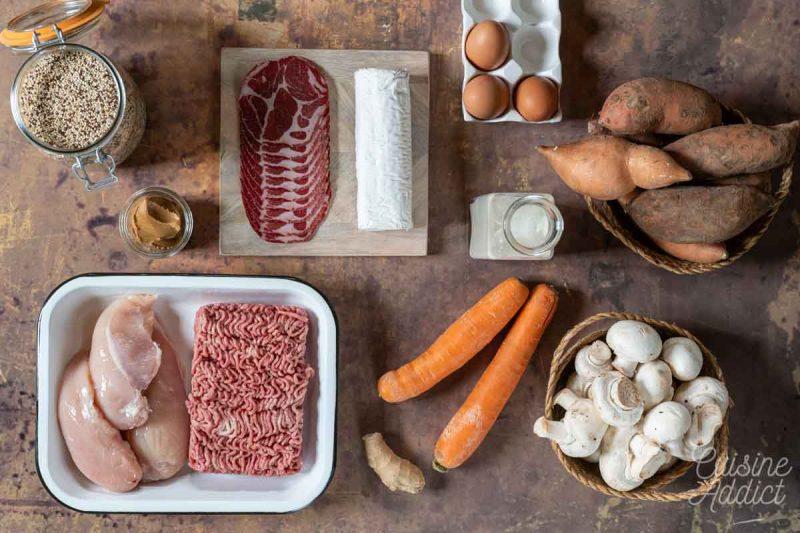 Batch cooking Automne 7 - Ingrédients