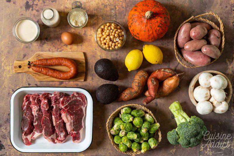 Batch cooking Automne 8 - Ingrédients