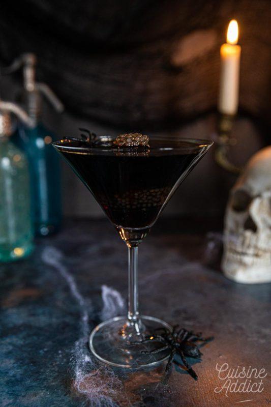Cocktail aux oeufs d'araignée {Black Russian & Perles du Japon}