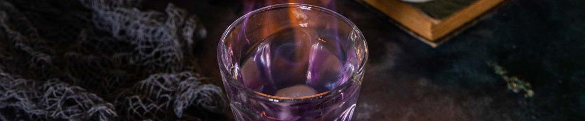 Recette de cocktail pour Halloween Oeil flambé