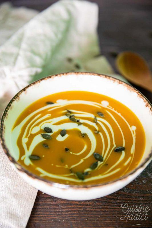 Soupe de potimarron au lait de coco