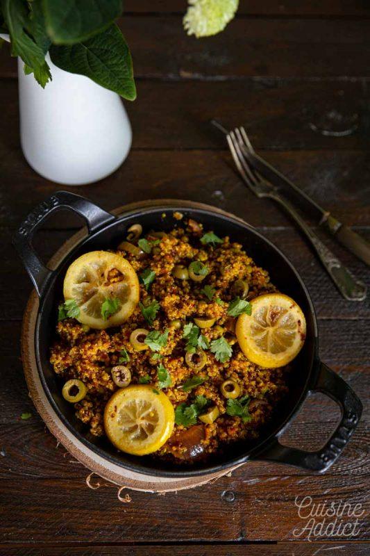 One pan quinoa à l'orientale