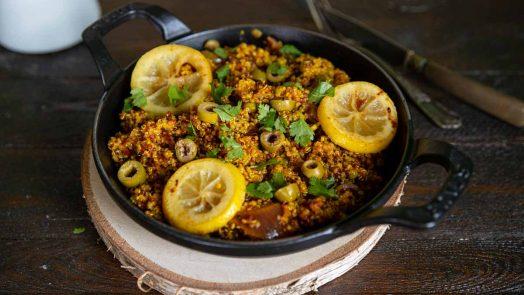 Recette de One pan quinoa à l'orientale