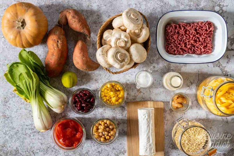 Batch cooking Hiver 1 - Ingrédients