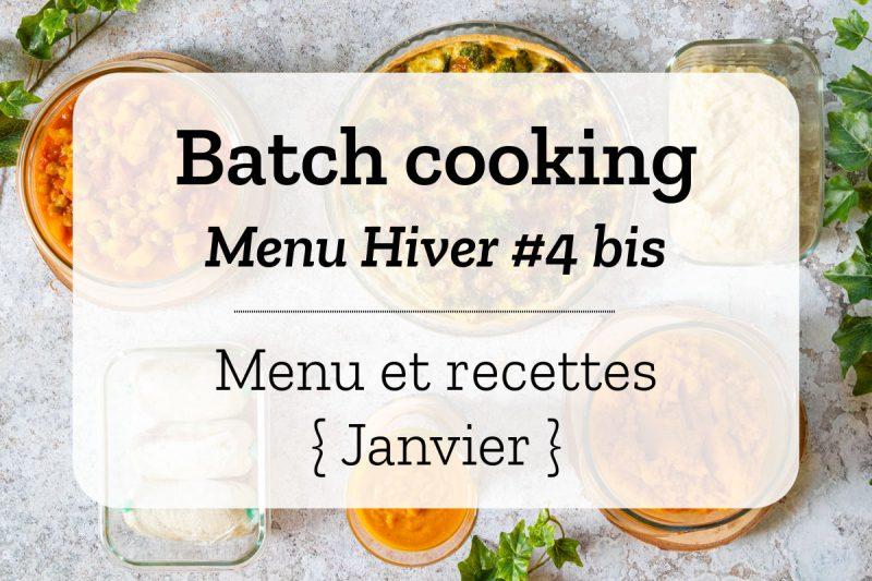 Batch cooking pour la semaine #3