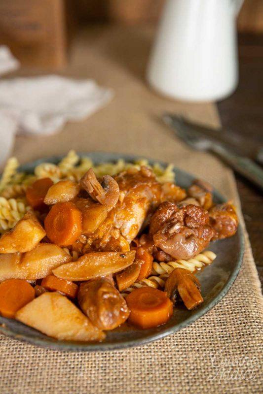 Ragoût de poulet aux légumes d'hiver
