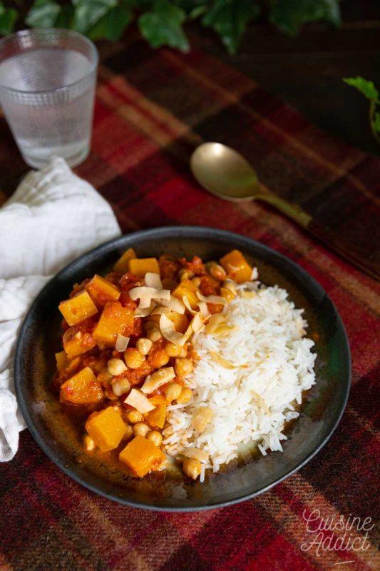 Curry de butternut et pois chiche