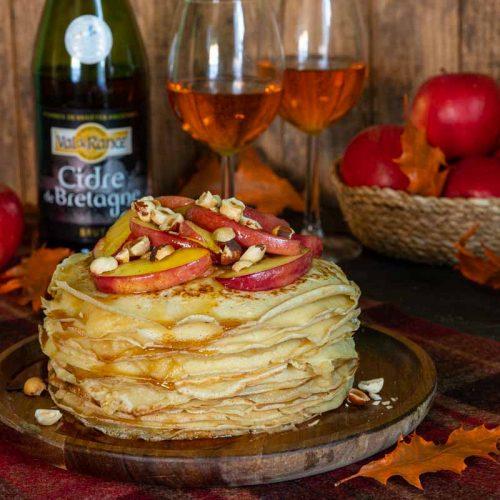 Recette de gâteau de crêpes au beurre de pommes