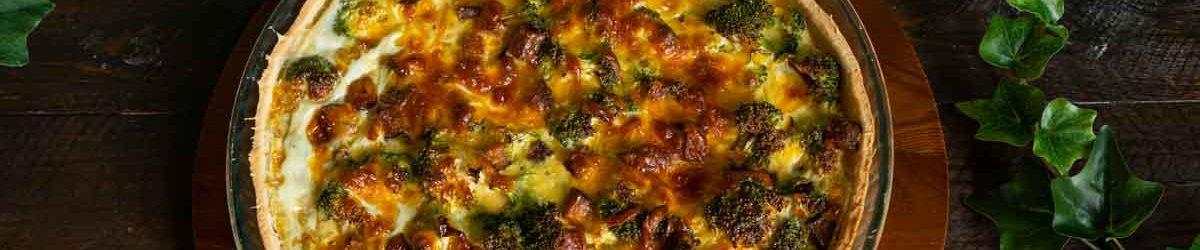 Recette de quiche au brocoli et tofu