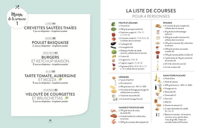 Batch cooking avec Companion - Exemple de menu