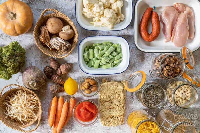 Batch cooking Hiver 10 bis - Ingrédients