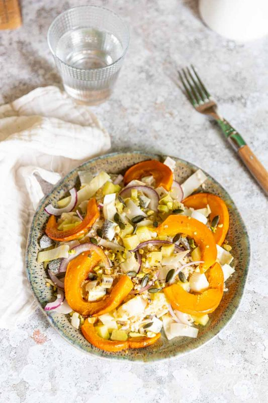 Salade d'endives, kiwi et potimarron