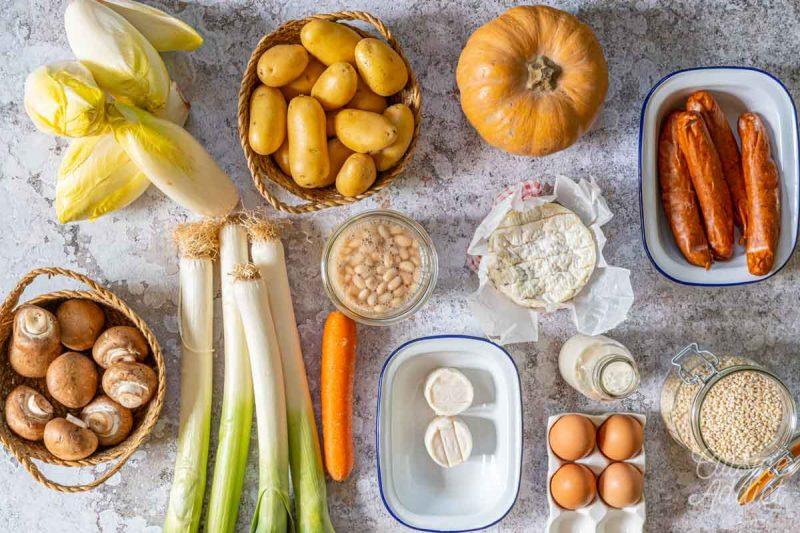 Batch cooking Hiver 12 bis - Ingrédients