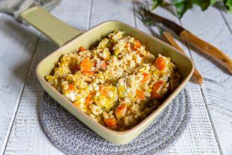 Recette de blé aux légumes