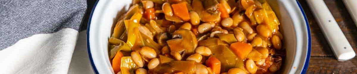 recette de haricots blancs et poireaux