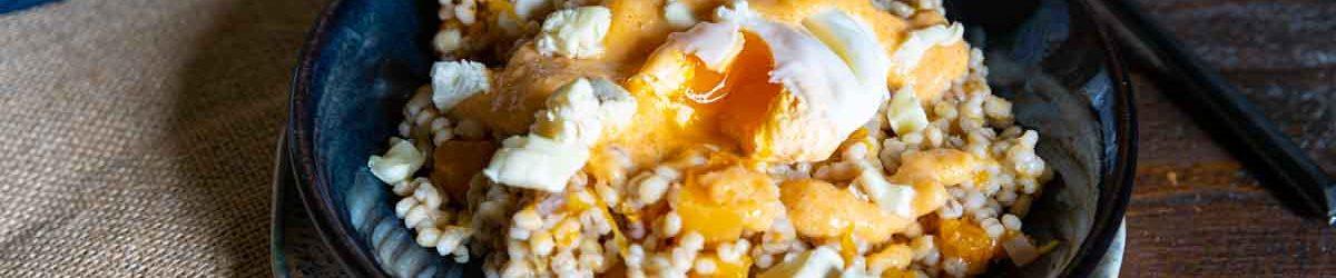 Recette de risotto d'orge à la courge
