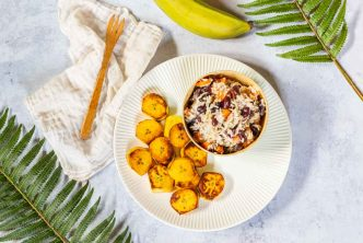 Recette de riz aux haricots et banane plantain