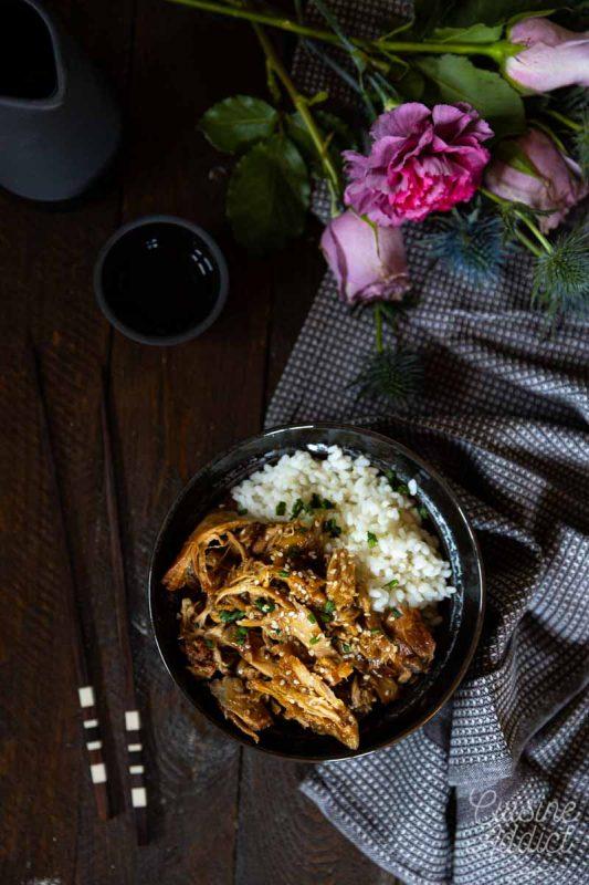 Pulled Teriyaki Chicken au Cookeo